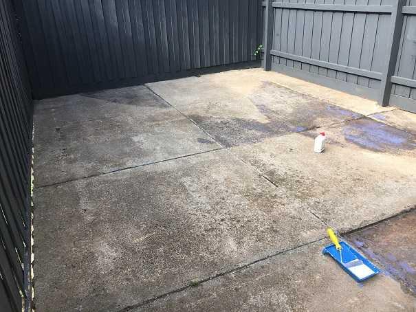 backyard transformation artificial grass before