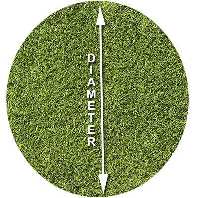 how-to-measure-circle-grass