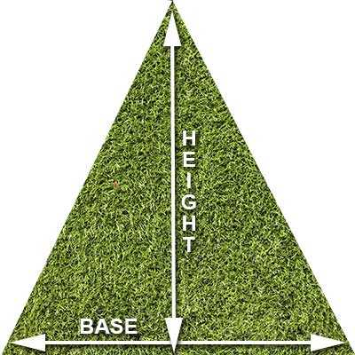 how-to-measure-triangle-grass